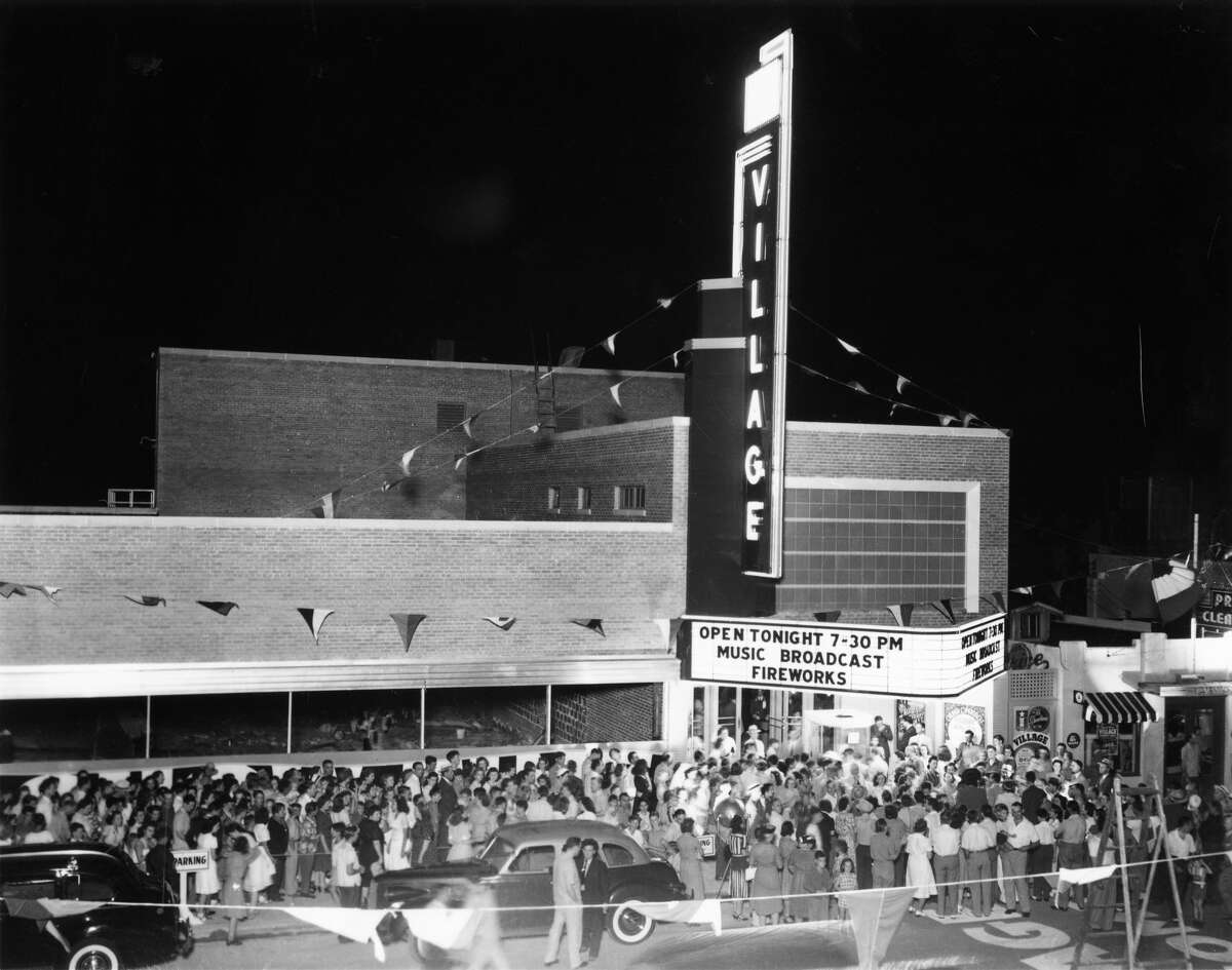 The Village Theatre opened in 1941 with lots of fanfare and fireworks. It was located at 2412 University and later demolished.