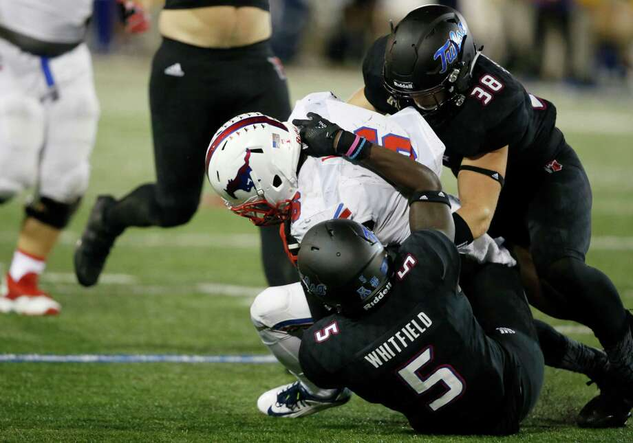 AAC POWER RANKINGS12. SMU (2-4, 0-2 AAC)The Mustangs gave Tulsa everything it wanted and more in a 43-40 overtime loss on the road. SMU finally got its offense going with redshirt freshman quarterback Ben Hicks, who passed for 258 yards and two touchdowns with no interceptions. Hicks wasn't spectacular, but he was efficient, and that's exactly what the Mustangs need from him moving forward. The defense did give up points but continued to add to its stellar interception total (13). SMU showed it has the potential to right the ship and save this season. But the Mustangs need to play complete games when they return from their bye week to face Houston on Oct. 22. - EJ Holland, Dallas Morning News Photo: Sue Ogrocki, Associated Press / AP2016