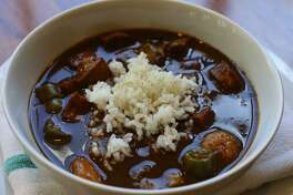 Seafood gumbo a la Creole at Lüke gets full Louisianian credit for a thick, swampy roux and a payload of okra.