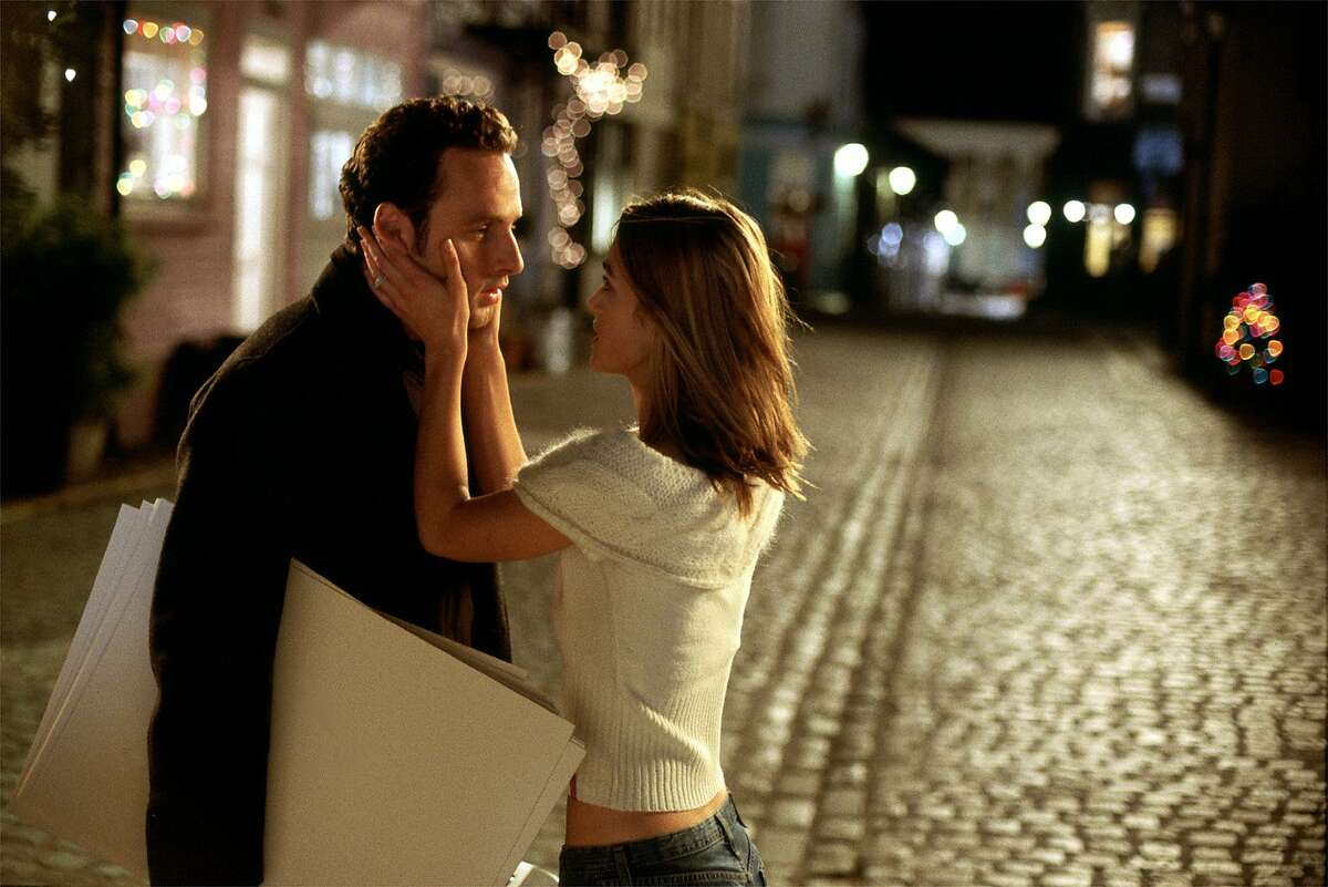 Juliet (Keira Knightley) reacts to Mark's (Andrew Lincoln) Christmas Eve confession in Richard Curtis's romantic comedy