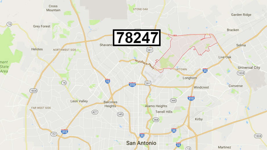 The 78247 ZIP code is located on the North Side and encompasses the area around McAllister Park up to Loop 1604. Photo: Google Maps