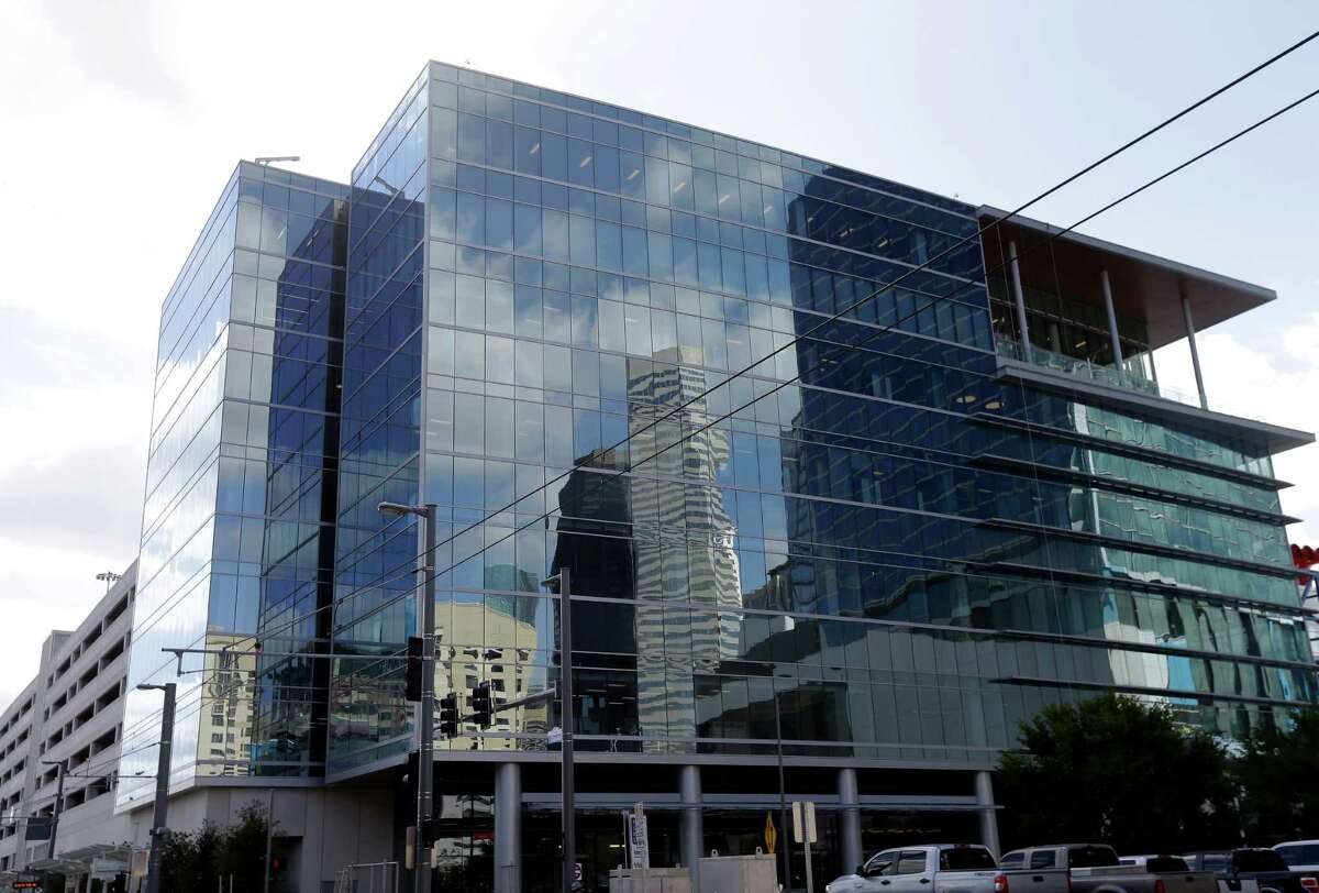 The office building of the Greater Houston Partnership, 701 Avenida De Las Americas, is shown on Wednesday.