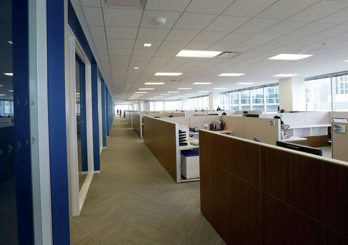 An open office area is shown at the new office building of the Greater Houston Partnership, 701 Avenida De Las Americas, Tuesday, Oct. 11, 2016, in Houston.