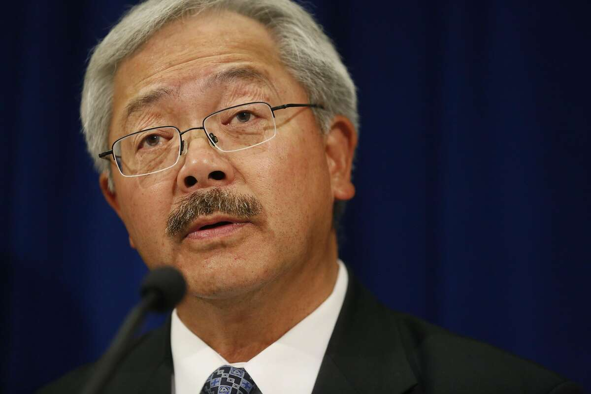 Mayor Ed Lee speaks to the media during a press conference announcing the findings of an assessment report on the San Francisco Police Department by the Department of Justice, Officer of Community Oriented Policing Services at the Phillip Burton Federal Building Oct. 12, 2016 in San Francisco, Calif.