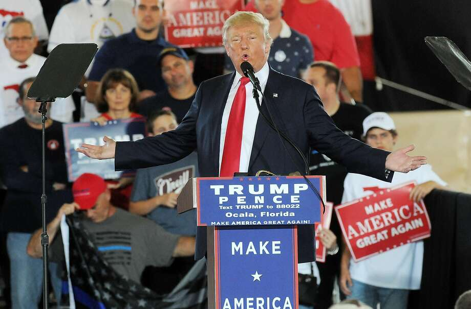 Republican presidential nominee Donald Trump speaks to supporters during a campaign rally in Ocala, Fla. Photo: Gerardo Mora, Getty Images