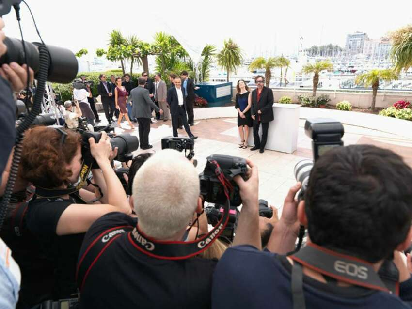CANNES, FRANCE - MAY 12: (UK TABLOID NEWSPAPERS OUT) Giovanna Mezzogiorno and Tim Burton attend the Jury Photocall at the Palais des Festivals during the 63rd Annual Cannes International Film Festival on May 12, 2010 in Cannes, France. (Photo by Dave Hogan/Getty Images) *** Local Caption *** Giovanna Mezzogiorno;Tim Burton