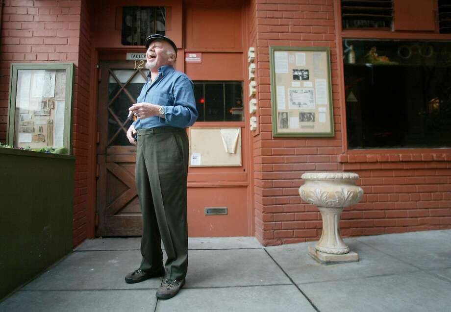 "Richard ""Specs"" Simmons in front of his historic community watering hole in North Beach, Specs' Twelve Adler Museum Cafe, called a cultural institution. Photo: BRANT WARD, SFC"