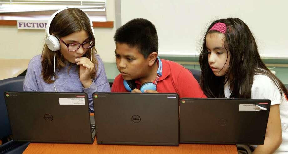 Here is a model classroom at Westwood Elementary. Photo: Melissa Phillip, Houston Chronicle / © 2016 Houston Chronicle