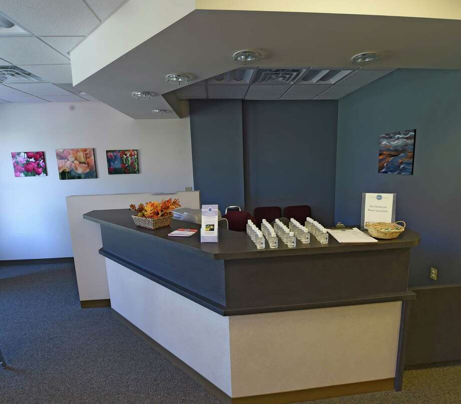 Interior view of the reception area of the new Barry and Jeanette Weinberg Treatment Center at 10 Dewitt Street Oct 12, 2016 in Albany,  N.Y.  The center is a one-stop treatment center for person at risk for HIV and Hep-C.  (Skip Dickstein/Times Union) Photo: SKIP DICKSTEIN / 20038344A