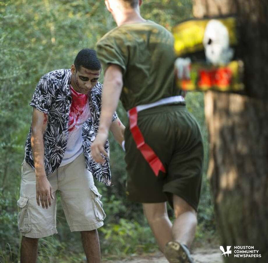 For the third year, the Atascocita Marine Corps JROTC has partnered with Project Graduation for the class of 2018 for the Zombie Fun Run 5K Oct. 29 at Atascocita High School. Photo: File Photo