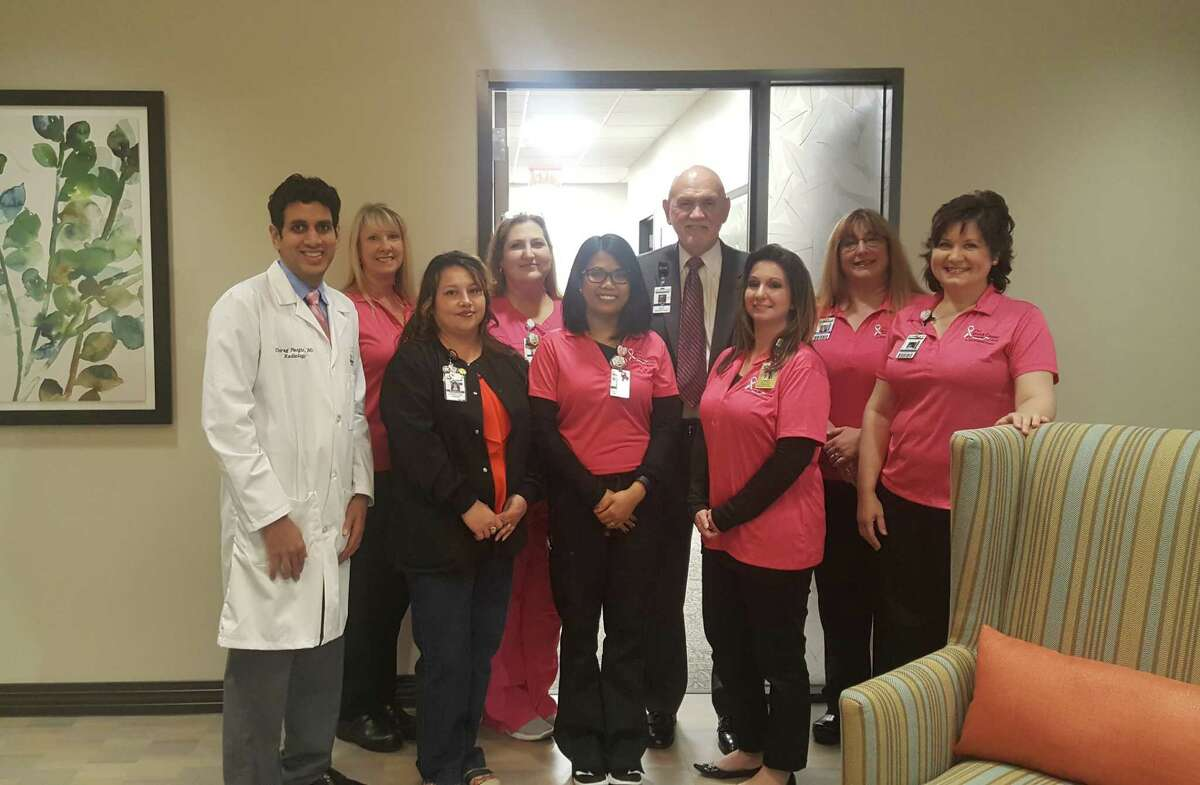 Kingwood Medical Center personnel stop for in the new Breast Center during the open house event at Kingwood Medical Center Oct. 11.