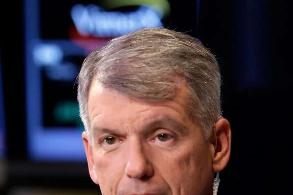 Wells Fargo Senior Executive Vice President and Chief Financial Officer Timothy J. Sloan is interviewed on the floor of the New York Stock Exchange, Wednesday, Nov. 13, 2013. (AP Photo/Richard Drew)