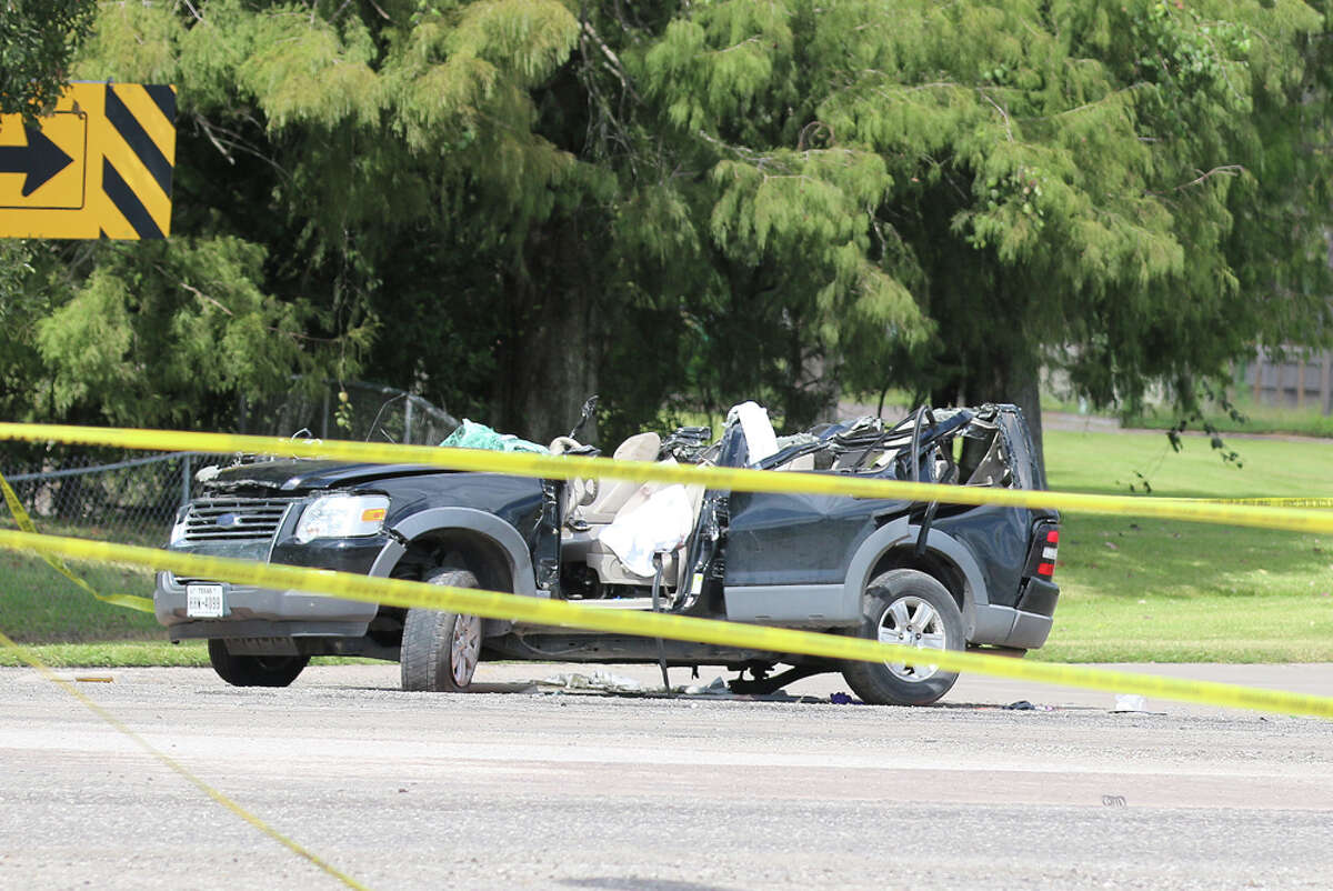 The driver of this Ford Explorer was killed on Wednesday when he crashed into the back of an 18-wheeler in Liberty.