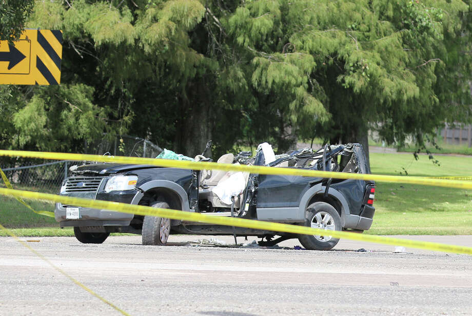 The driver of this Ford Explorer was killed on Wednesday when he crashed into the back of an 18-wheeler in Liberty. Photo: Cleveland Advocate And Dayton News