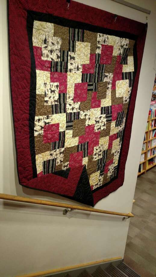 Steven Gaynes quilts he did as part of the Lordship Quilt Guild hang in the Fairfield University Book Store. Photo: Contributed / Contributed Photo / Fairfield Citizen