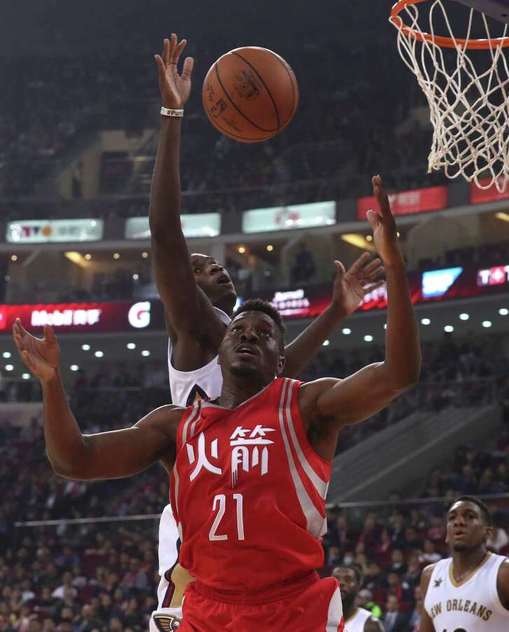 The Chinese fans didn't seem to mind that the game featured the likes of Rockets rookie Chinanu Onuaku (21) and the Pelicans' Cheick Diallo.