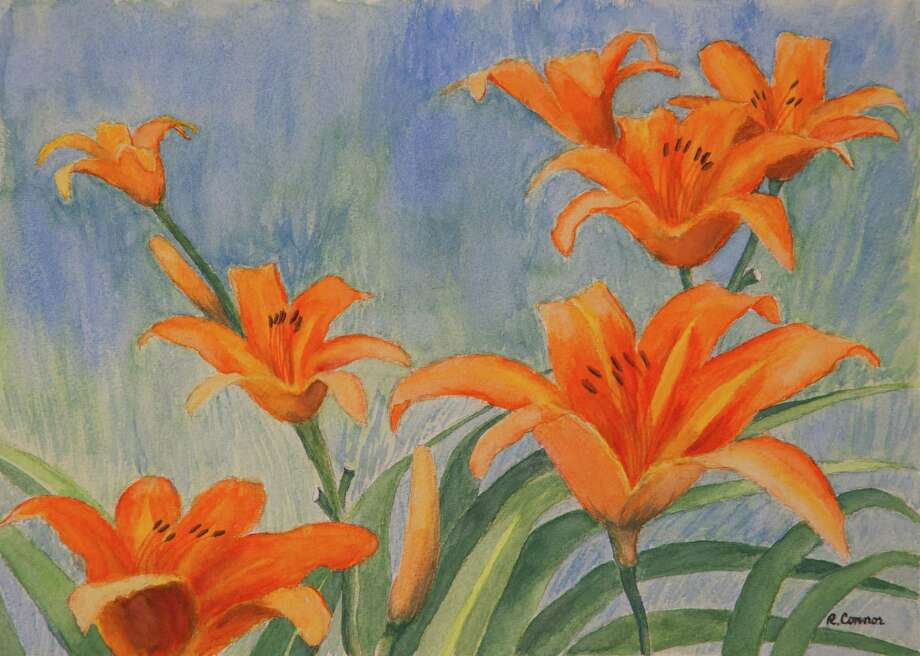 """""""Natures Beauty,"""" an exhibit of works by Rosemary Connor is on display at the 30 Bridge Street Building at 30 Bridge St. in New Milford through Oct. 24. Connor's paintings are for sale and viewing Mondays through Saturdays from 9 a.m. to 6 p.m. Above is Connor's"""" Day Lilies."""" Photo: Courtesy Of Rosemary Connor / Copyright:Heidi Johnson"""