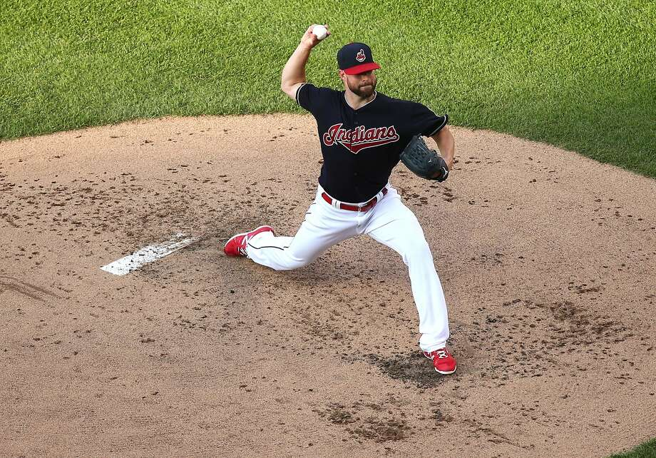 The Cleveland Indians' Corey Kluber, who will start Game 1 at home, rebounded from a 16-loss season in 2015. He was 0-1 with a 6.30 ERA in two starts against the Blue Jays this season. Photo: Aaron Josefczyk, Associated Press