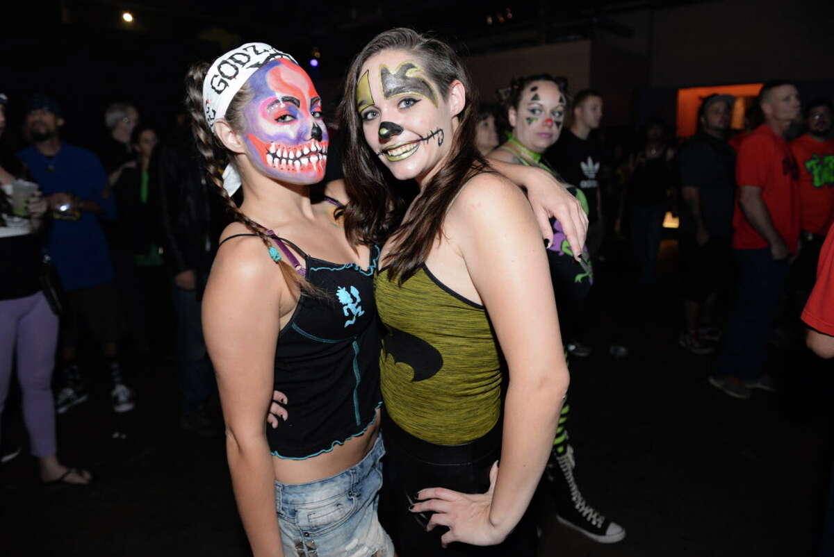Fans of Insane Clown Posse at Warehouse Live near Downtown Houston TX, Wednesday October 12, 2016.