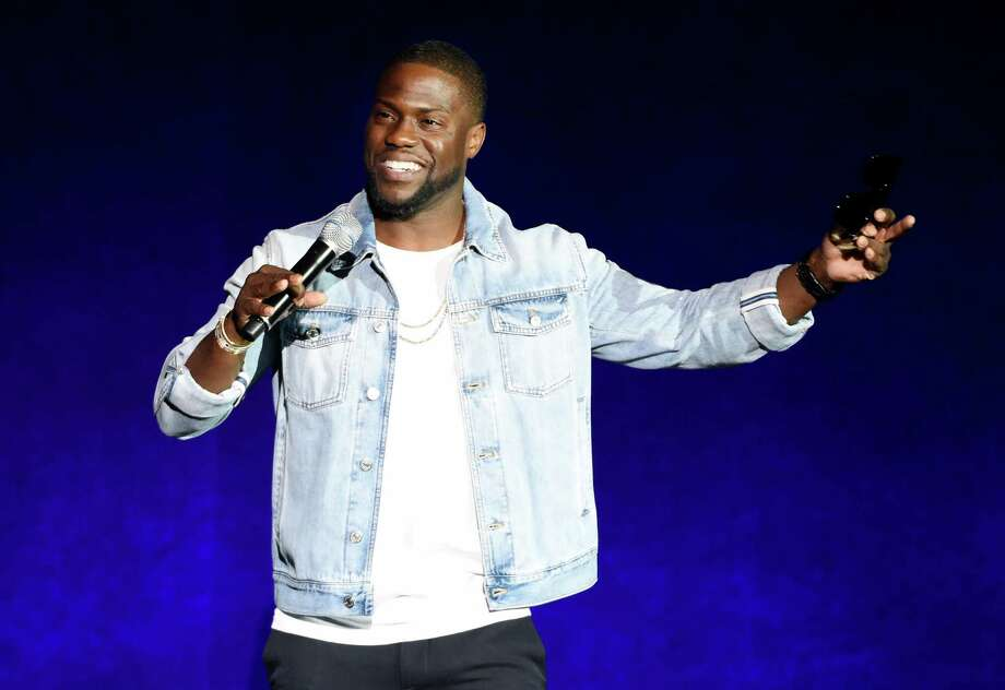 "FILE - In this April 13, 2016 file photo, Kevin Hart, star of the upcoming film ""What Now?,"" addresses the audience during the Universal Pictures presentation at CinemaCon 2016 in Las Vegas. Hart has signed a deal with Motown Records to release an album under his rapper alter-ego, Chocolate Droppa, this fall. (Photo by Chris Pizzello/Invision/AP, File) Photo: Chris Pizzello, INVL / Associated Press / Invision"