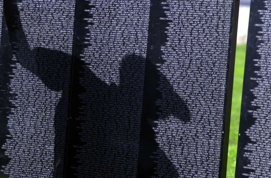 The Wall That Heals is a half-scale replica of The Vietnam Veterans Memorial Wall.  Photo: / ST
