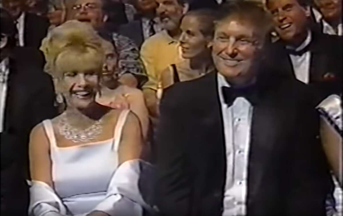 Donald Trump, pictured here with his first wife Ivana Trump, bought Miss USA in 1996.