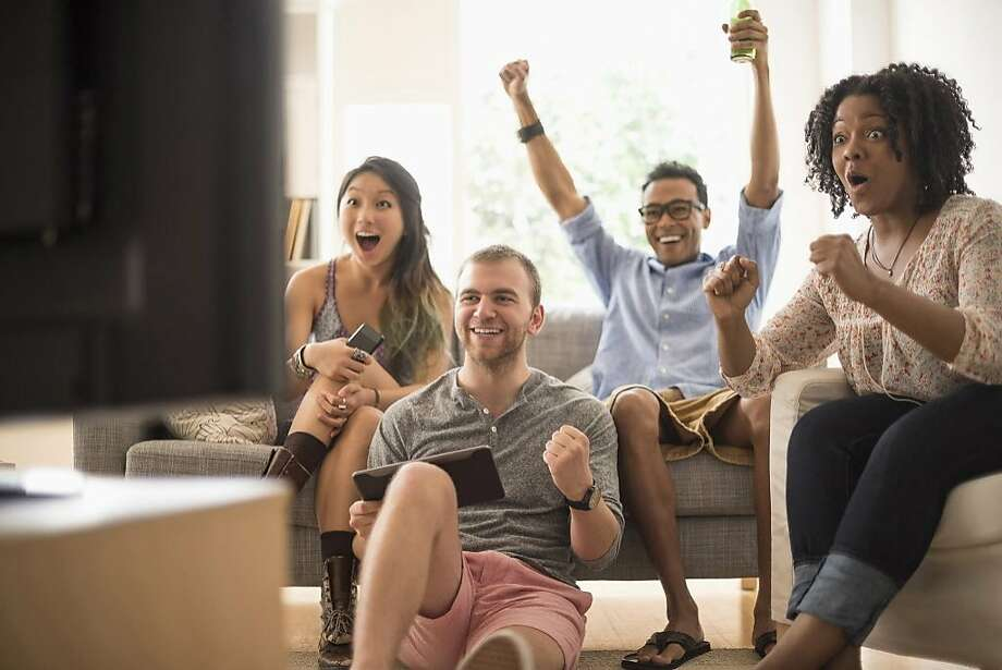 A husband always makes friends watch political news shows when they visit. Photo: Tetra Images, Getty Images/Tetra Images RF