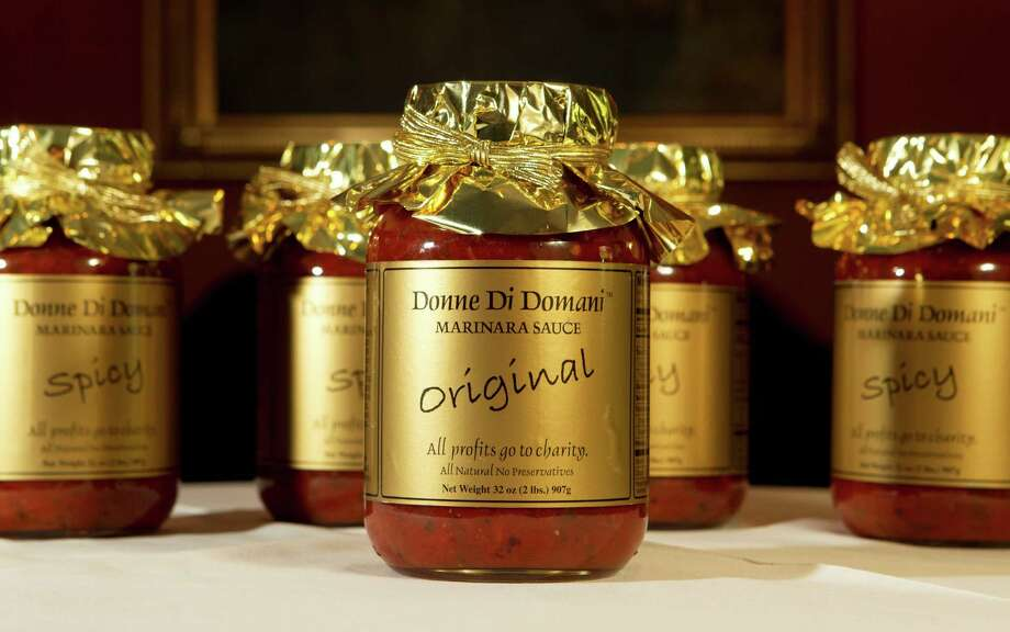 The Donne di Domani Club's marinara sauce, in addition to the sauce the club has a new cookbook La Cucina Delle Donne, the club sells their marinara sauce at the annual Nutcracker Market, photographed at the Hotel Granduca Thursday, Oct. 6, 2011, in Houston. ( James Nielsen / Chronicle ) Photo: James Nielsen, Staff / © 2011 Houston Chronicle