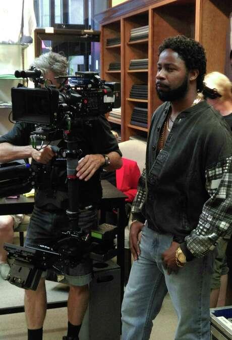 "Houston actor Kedrick Brown playing Alonzo Williams on the set of the Lifetime original movie ""Surviving Compton"" Photo: Lifetime"
