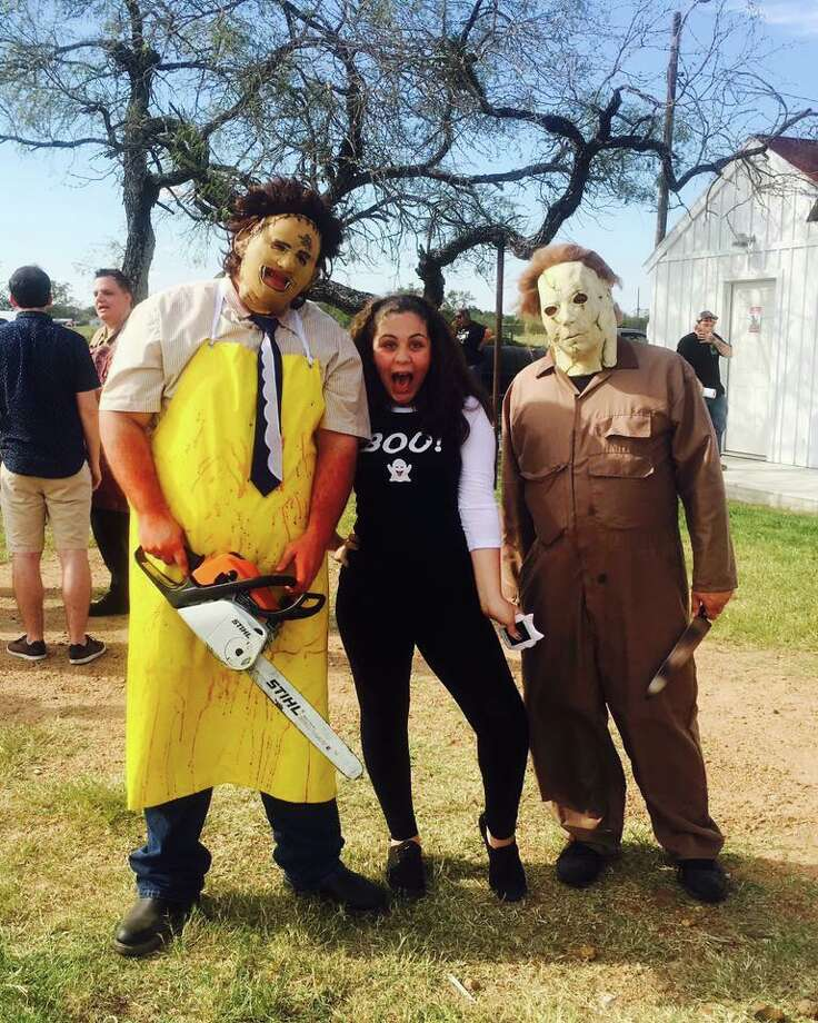 """Texas Chainsaw Massacre"" fans flocked to ""The Gas Station,"" on Oct. 8 in Bastrop to attend a grand opening of the barbecue business that is housed in the building made famous by the 1974 film. Photo: Provided By The Gas Station"