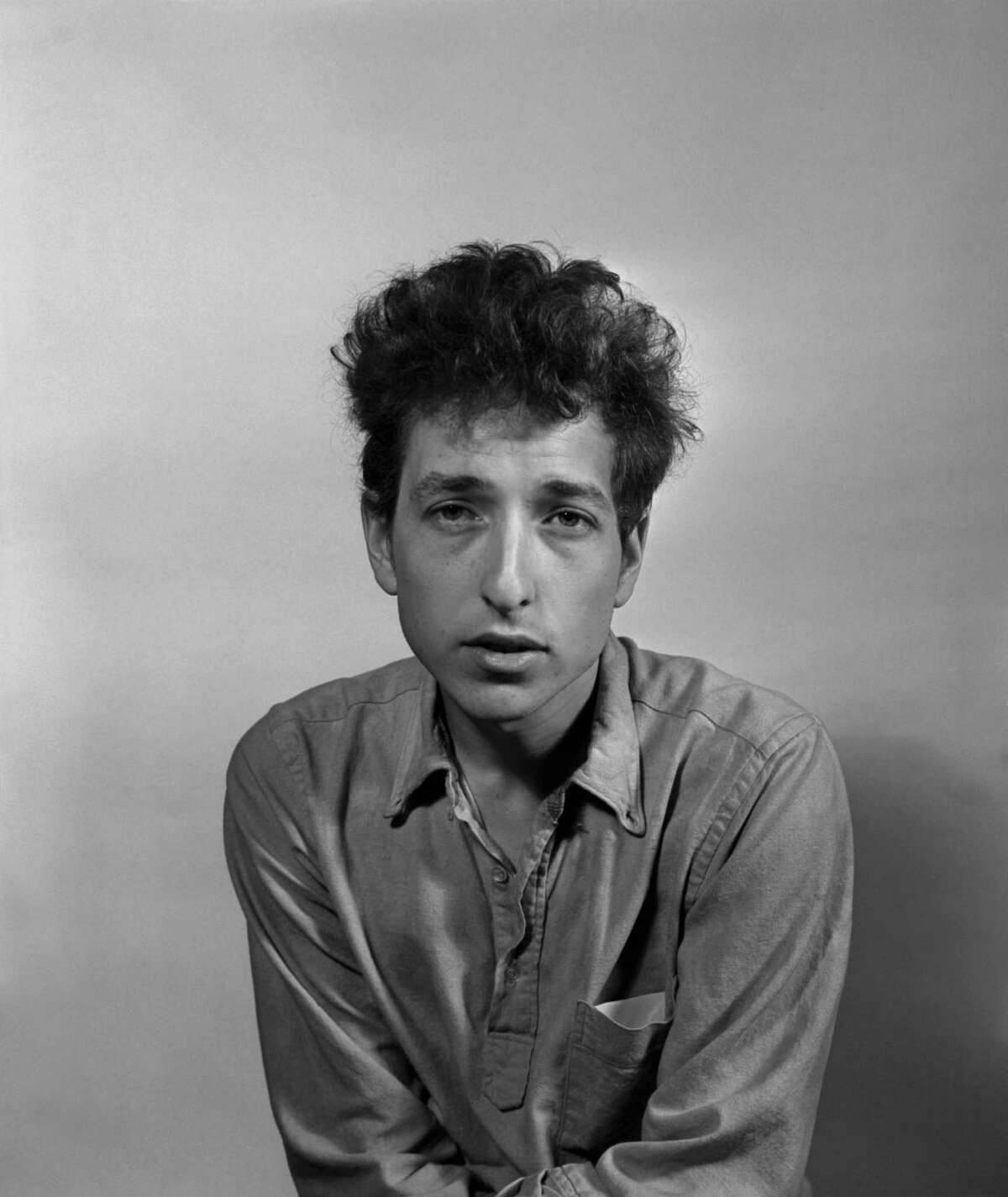 FILE-- Bob Dylan in New York in 1963. Dylan, one of the worldÂ?'s most influential rock musicians, was awarded the Nobel Prize in Literature on Oct. 13, 2016, for Â?