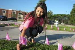 n an effort to promote Breast Cancer Awareness, the Atascocita High School French sold pink breast cancer flags to bring awareness to breast cancer during the month of October for Breast Cancer Awareness Month. Students, staff and the community were able to purchase a $2 pink flag and dedicate their flag to someone who is currently battling breast cancer or someone who has lost their battle to breast cancer. All funds will be donated to the American Cancer Society.