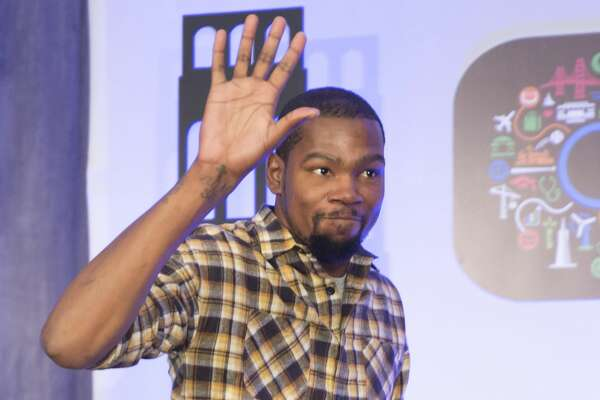 Kevin Durant attends The WARRIORS TIP-OFF LUNCHEON hosted by the San Francisco Chamber of Commerce October 10th 2016 at The Ritz-Carlton in San Francisco, CA