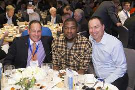 Michael Walker, Kevin Durant and Rob Warner attend The WARRIORS TIP-OFF LUNCHEON hosted by the San Francisco Chamber of Commerce October 10th 2016 at The Ritz-Carlton in San Francisco, CA