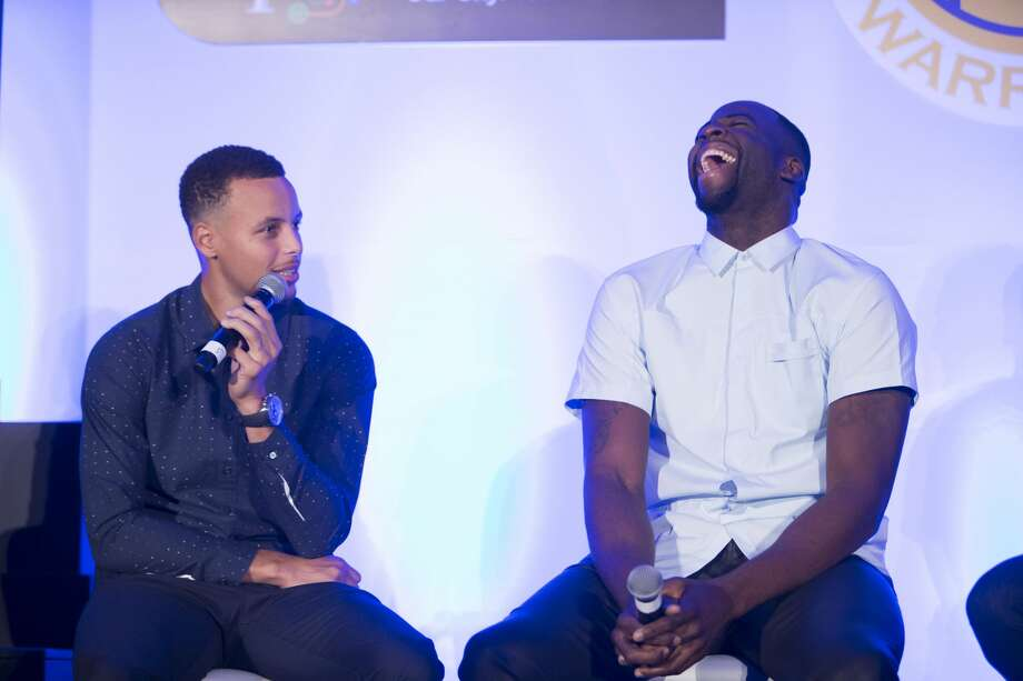 Stephen Curry and Draymond Green attend The WARRIORS TIP-OFF LUNCHEON hosted by the San Francisco Chamber of Commerce October 10th 2016 at The Ritz-Carlton in San Francisco, CA Photo: Drew Altizer Photography/Devlin Shand