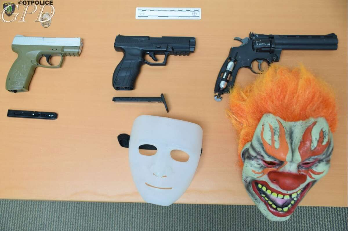 Three teenage males were arrested by the Gainesville Police Department on Thursday, Oct. 13, 2016, after breaking into a home and firing BB guns. Two of the boys wore clown masks, according to Gainesville police.