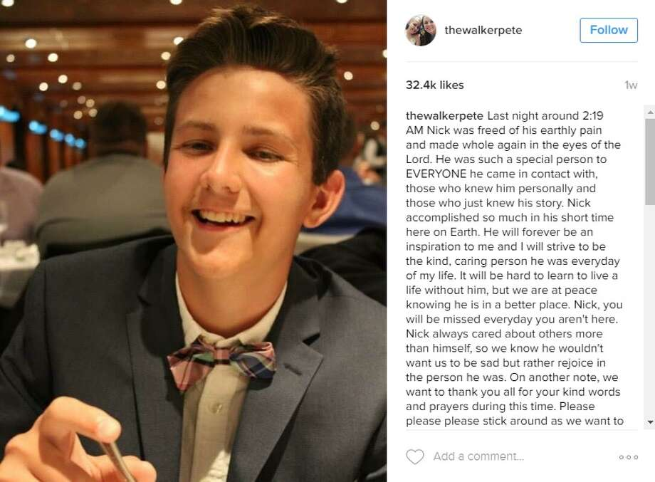 Nick Peters died Oct. 3, 2016. His classmates at Harlingen High School posthumously crowned him Homecoming King Oct. 5, 2016. Photo: Courtesy/Instagram