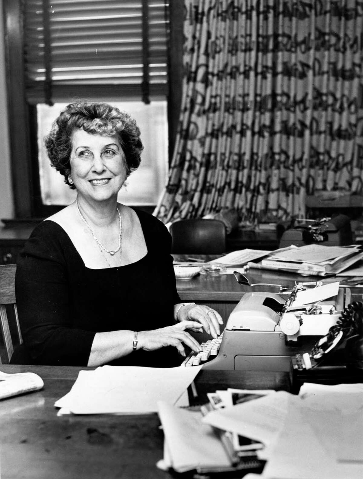 10/07/1960 - Houston civic leader Lyndall Wortham has been a resident of Houston since 1926.