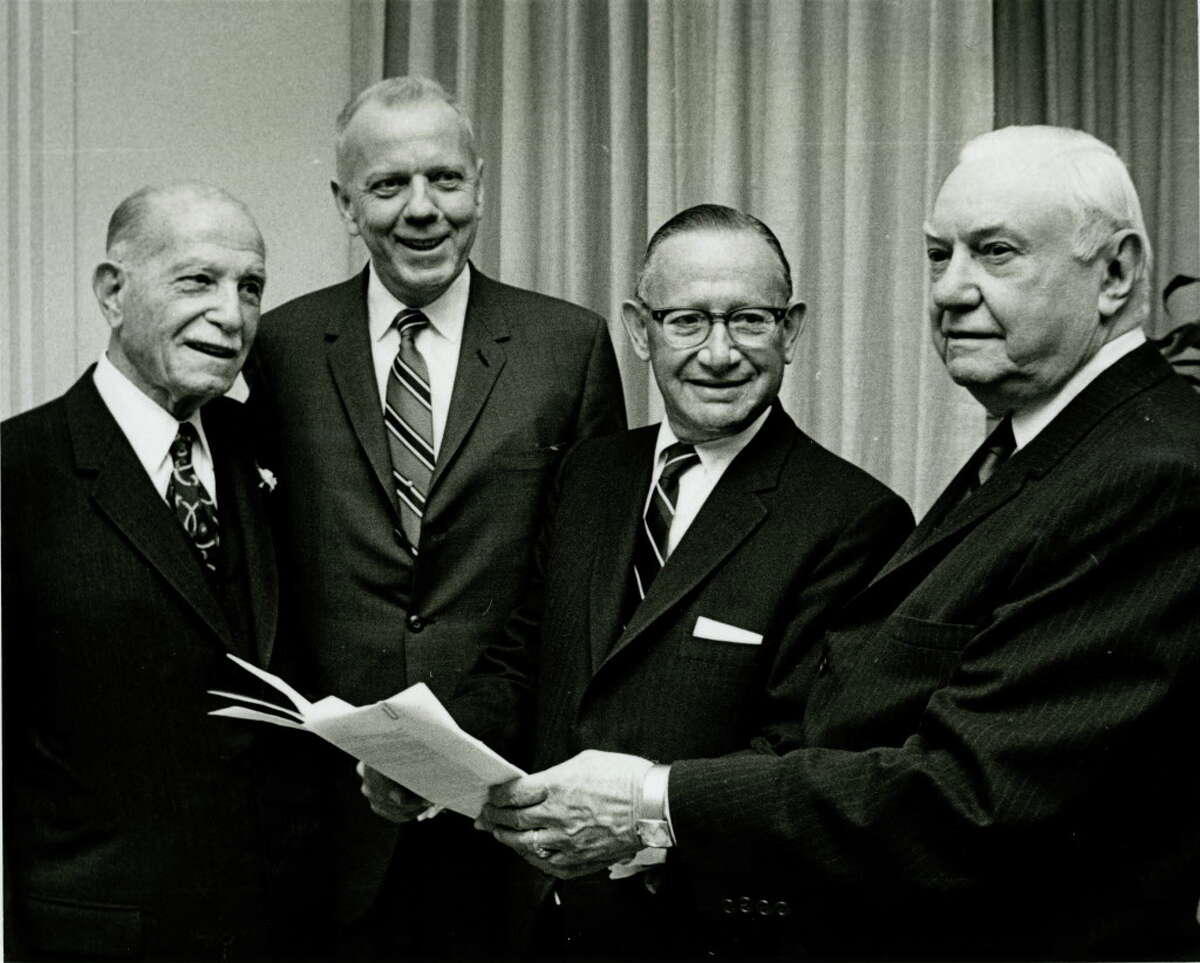 1969 - Houston Symphony Orchestra supporters Maurice Hirsch, Charles Jones, Max Levine & Gus S. Wortham