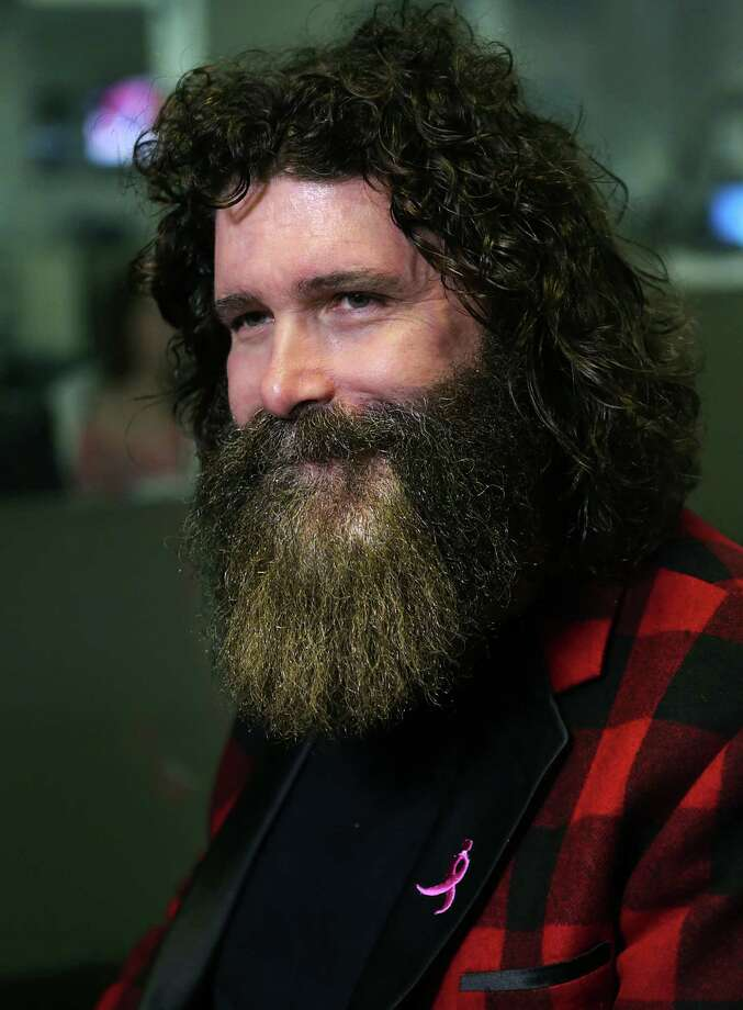 Famed wrestler Mick Foley announcing the WWE Royal Rumble 2017 which will be held on Jan. 29 in the Alamodome. Photo: Bob Owen, San Antonio Express-News / ©2016 San Antonio Express-News
