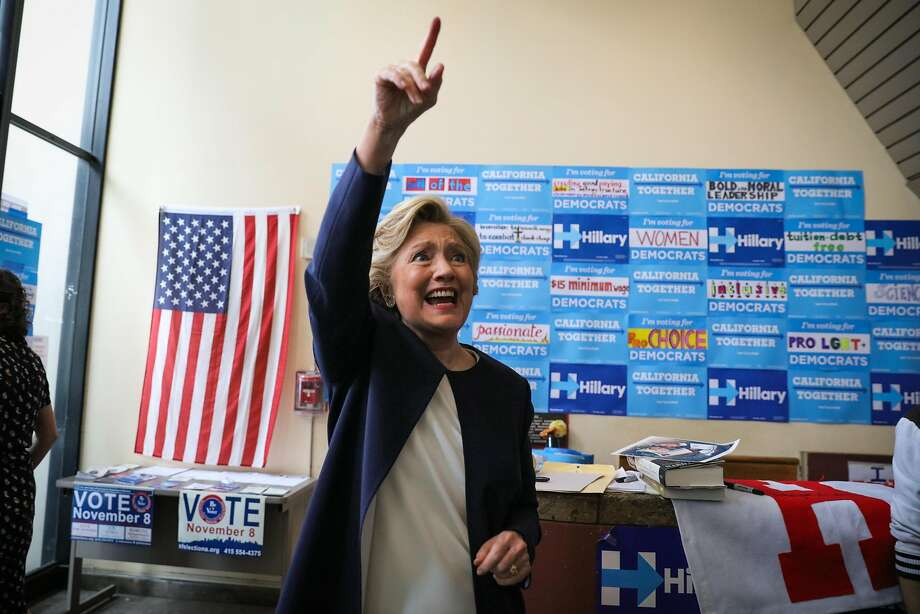 U.S. Democratic Presidential nominee Hillary Clinton waves goodbye to supporters after an event at the DNC headquarters on Van Ness Avenue in San Francisco, California, on Thursday, Oct. 13, 2016. Photo: Gabrielle Lurie, The Chronicle