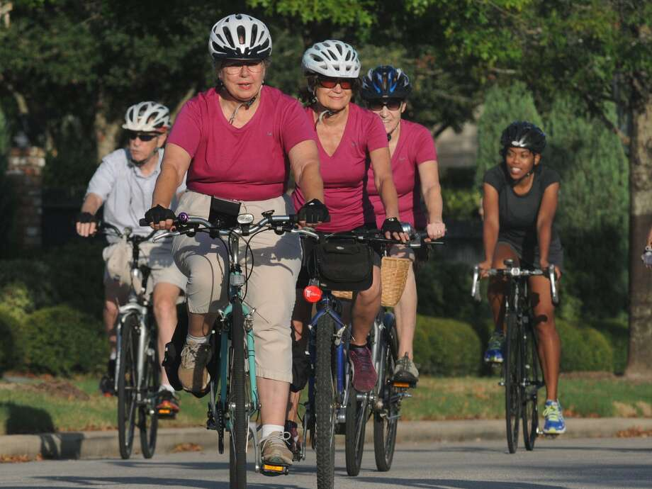 Members of the Bike The Woodlands Coalition are working to make the community a safer place for cyclists.  Photo: Jerry Baker, For The Chronicle
