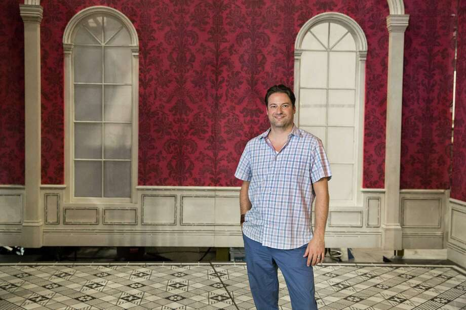 """Houston Ballet Director of Production Andrew Nielsen poses for a photo with the brand new sets of its upcoming """"Nutcracker"""" show Friday, Oct. 7, 2016, in Houston. Photo: Yi-Chin Lee, Houston Chronicle / © 2016  Houston Chronicle"""