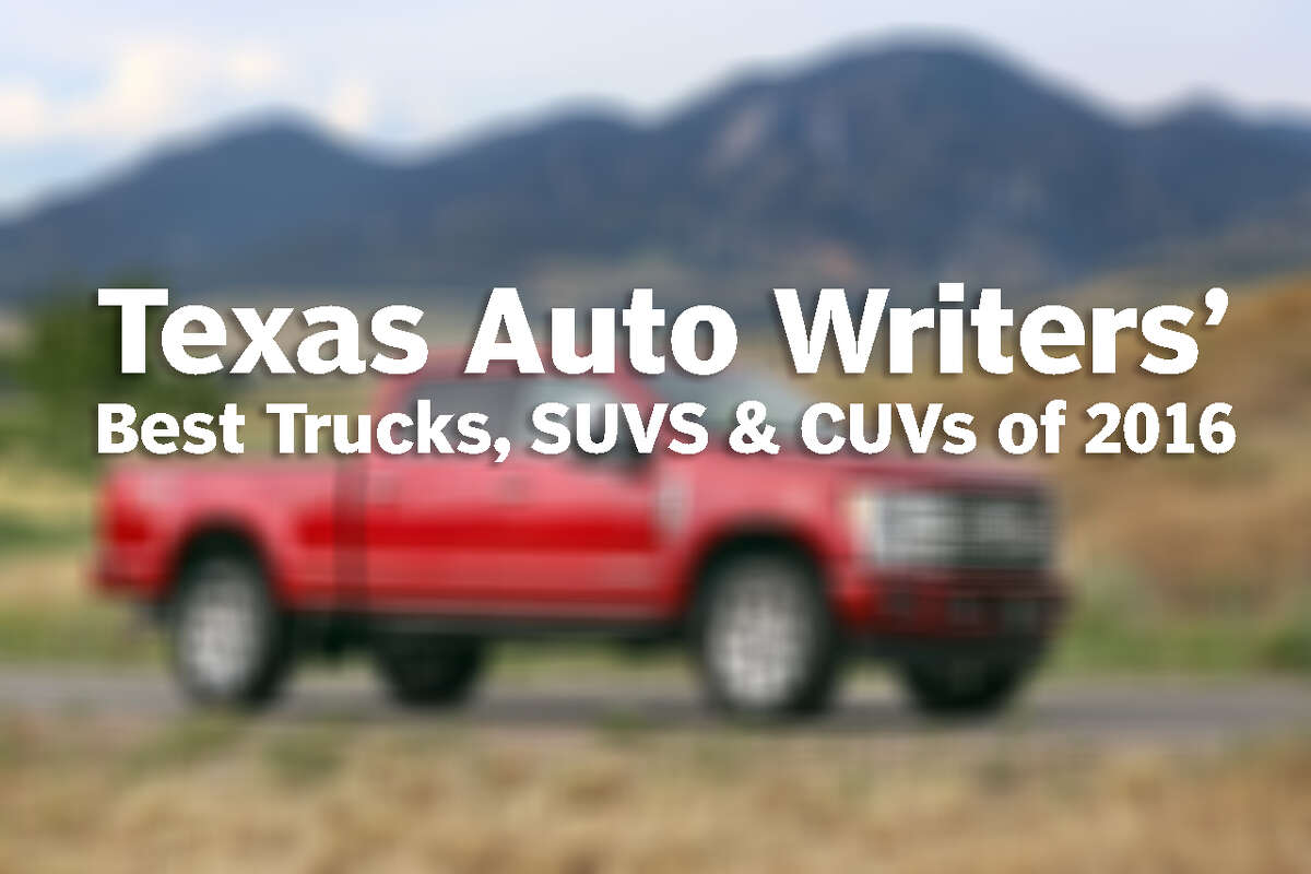 PHOTOS: Best Trucks, SUVs & CUVs of 2016 The Texas Auto Writers Association named these the best trucks, SUVs and CUVs (Crossover Utility Vehicles) at the 2016 Texas Truck Rodeo.