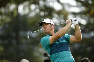 Paul Casey tee shot on the 2nd hole during round 1 of the Safeway Open golf tournament at Silverado Resort  in Napa, California, on Thursday October 13, 2016