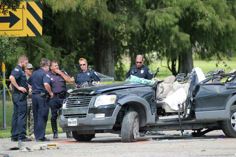A man was killed Wednesday, Oct. 12, in Liberty when he reportedly drove his Ford Bronco into the back of an 18-wheeler. Photo: David Taylor