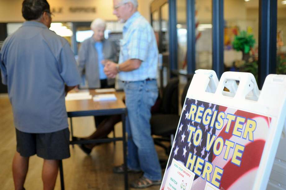 League of Women Voters will be set up in the hall at the Annex to assist potential voters. Photo: James Durbin