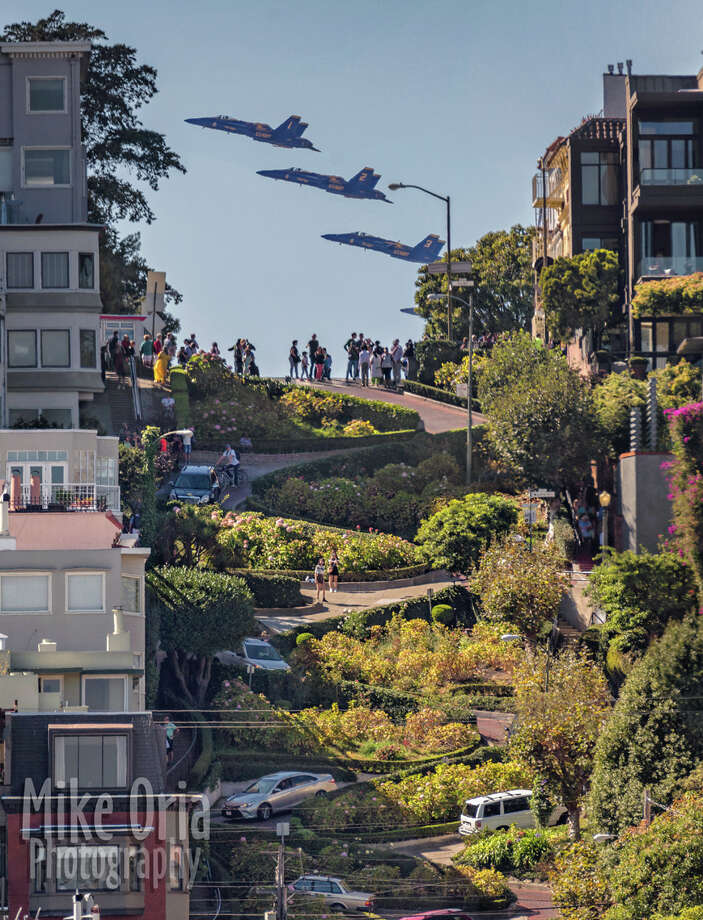 Photographer Mike Oria captured this photo of the Blue Angels, which many think is Photoshopped. Photo: Mike Oria / Mike Oria Photography