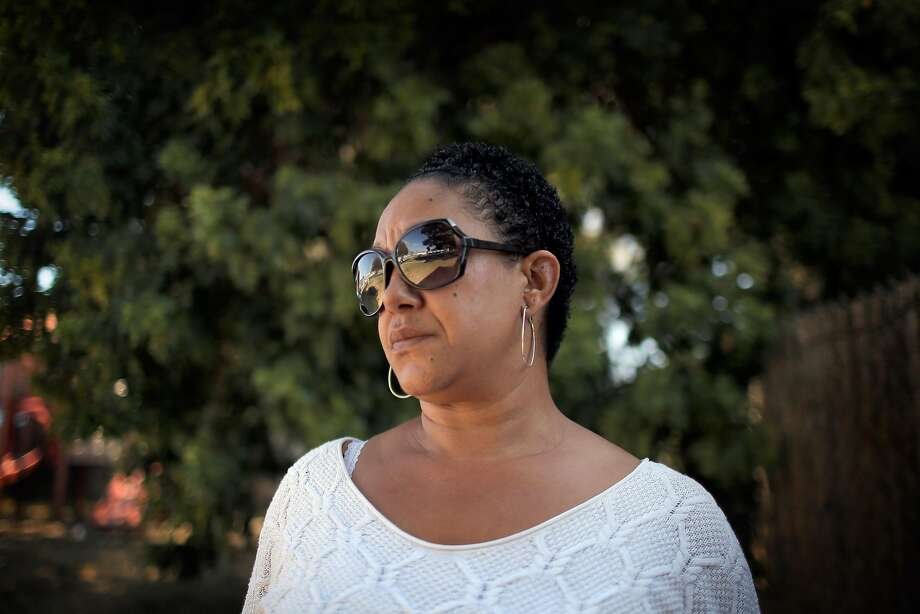 Cat Brooks, co-founder of the Anti Police-Terror Project and organizer for Black Lives Matter Bay Area, is at McClymonds Park in Oakland. Photo: Carlos Avila Gonzalez, The Chronicle