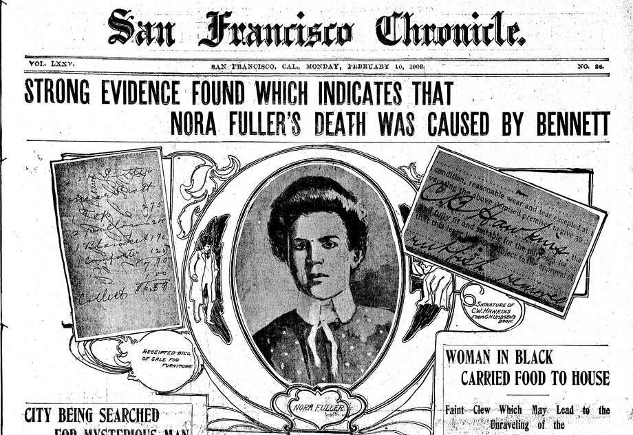 Chronicle coverage of the murder of Nora Fuller in 1902. Photo: The Chronicle